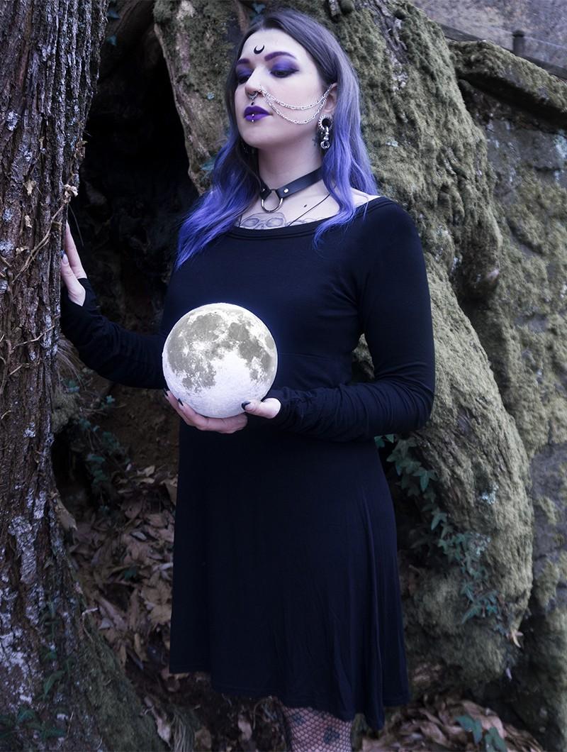 "\""Ysïaa\"" long sleeve dress, Black"