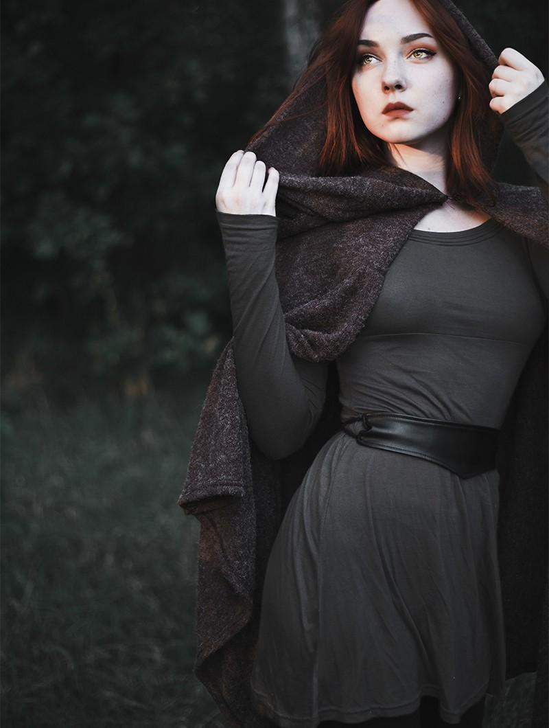 "\""Ysïaa\"" long sleeve dress, Charcoal"
