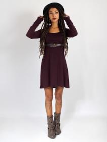 "\""Ysïaa\"" long sleeve dress, Dark purple"