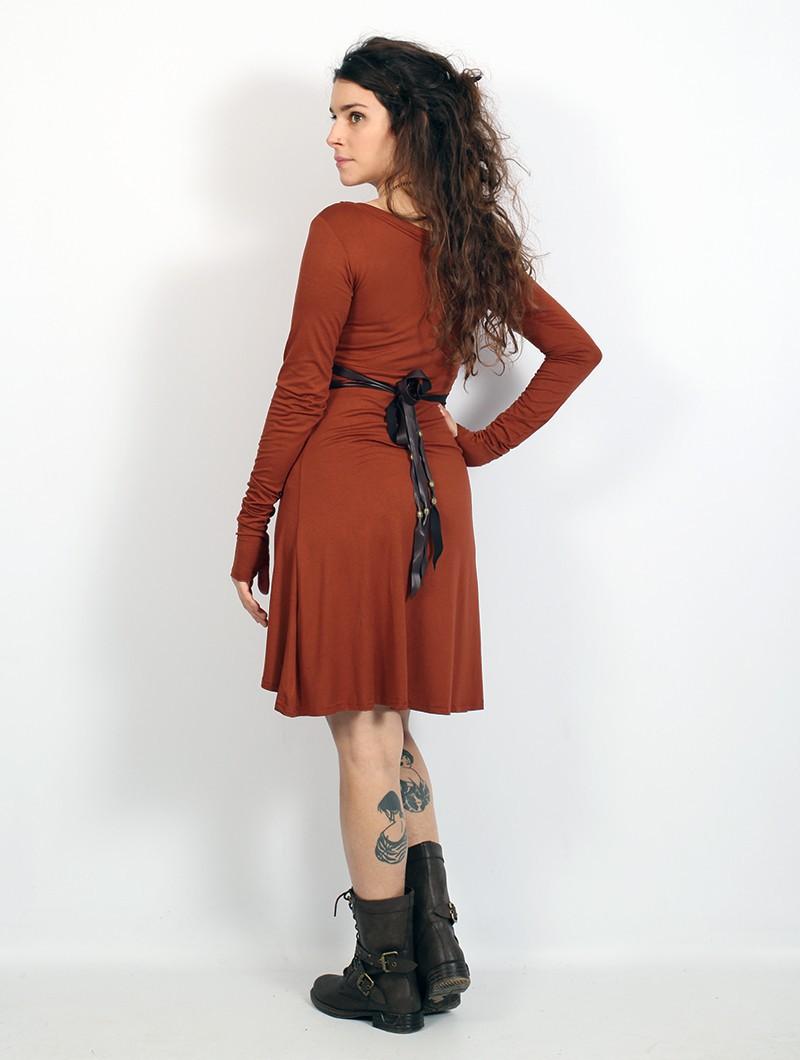 "\""Ysïaa\"" long sleeve dress, Sienna"