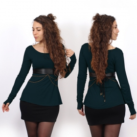 """Ysïaa\"" long sleeves top, Dark teal"