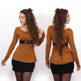 """Ysïaa\"" long sleeves top, Rusty"