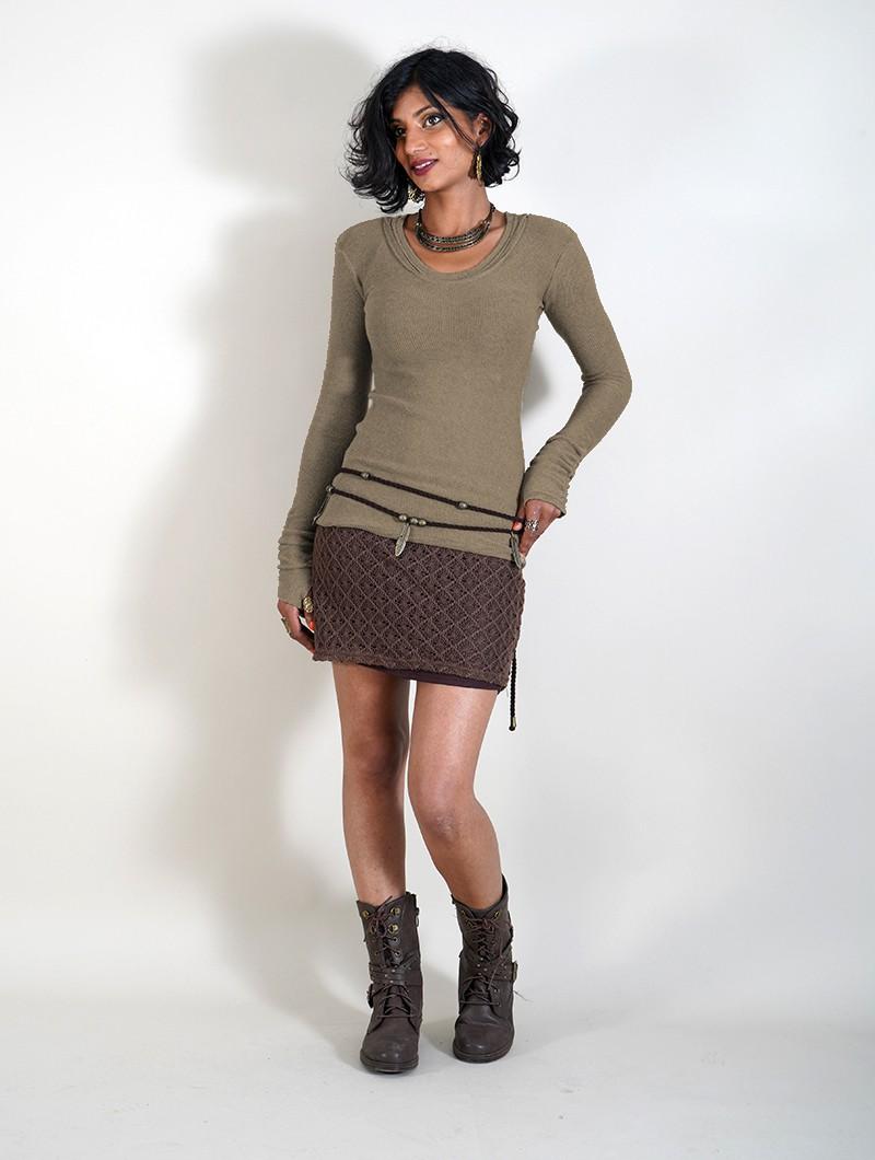 "\""Ysïs ~ 100% Cotton\"" sweater, Beige"