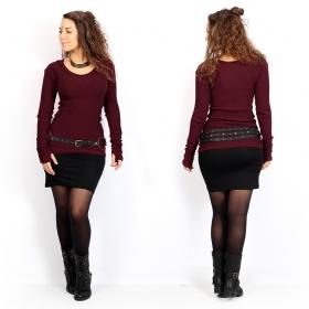 "\""Ysïs ~ 100% Cotton\"" sweater, Wine"