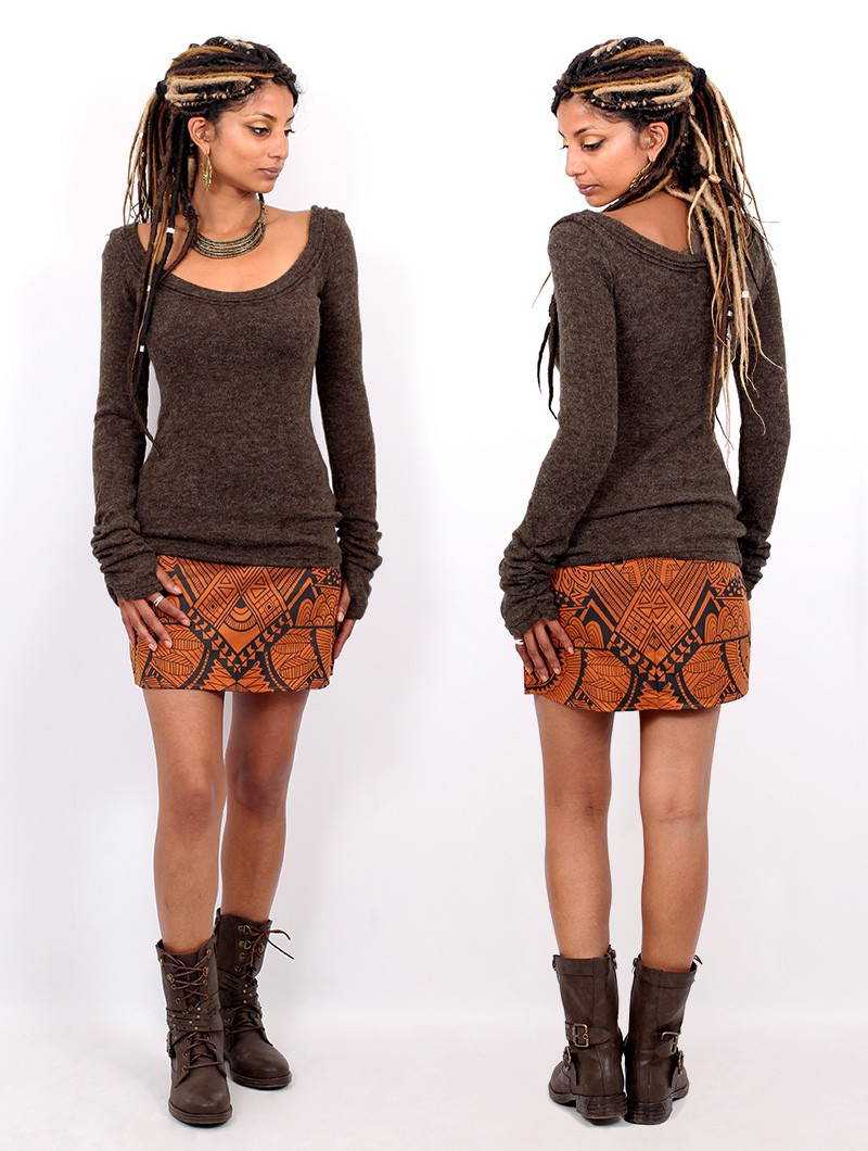 "\""Ysïs\"" pullover, Brown"