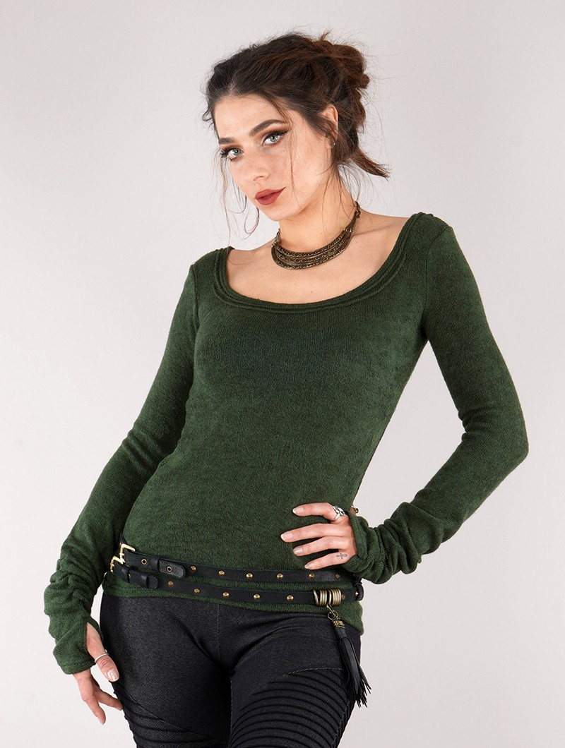 """Ysïs\"" pullover, Forest green"