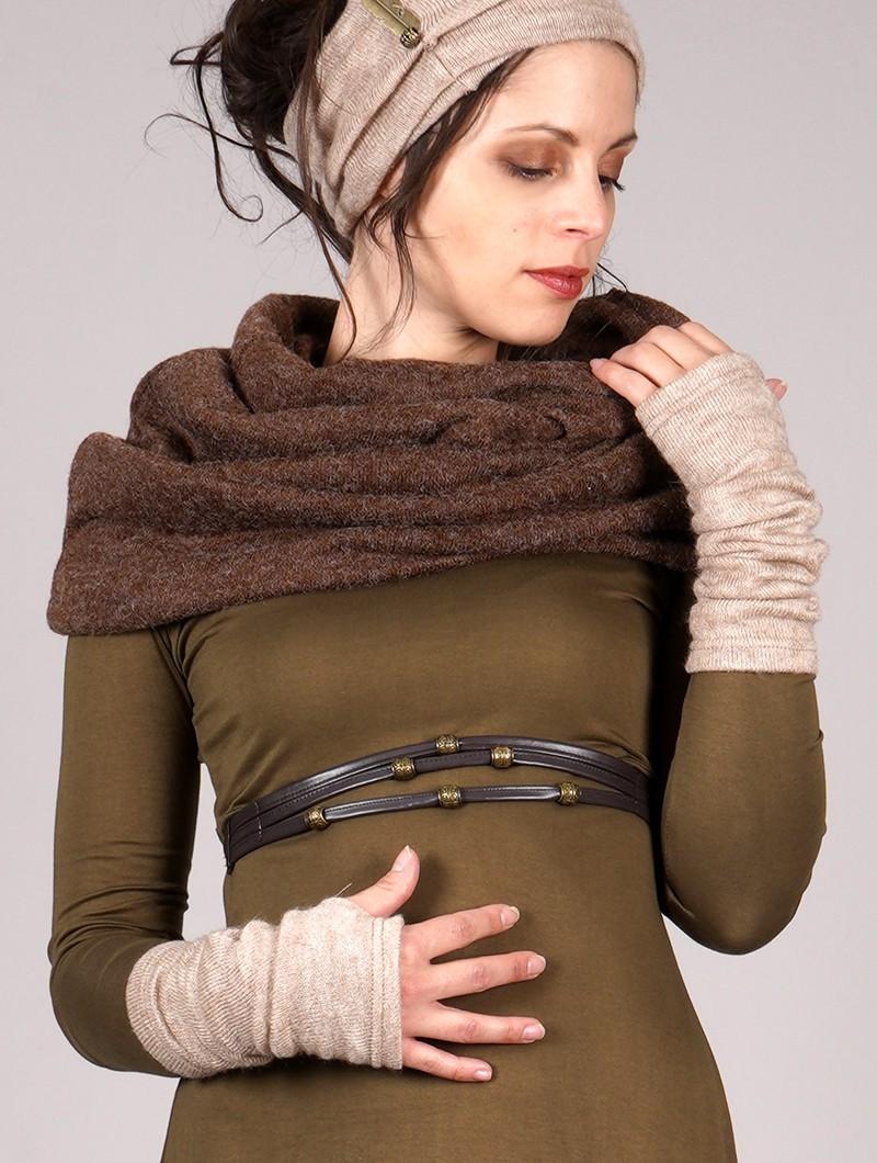 "\""Yüm\"" arm warmers, Beige"