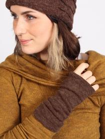 "\""Yüm\"" arm warmers, Brown"