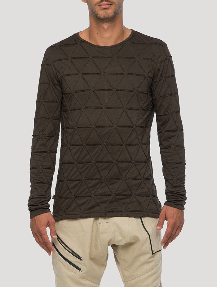 """Zentangle\"" long sleeves t-shirt, Khaki green"