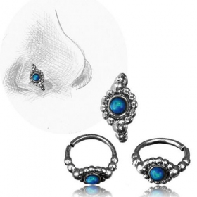 "\""Zeya blue Opal Pali\\\"" nose ring"