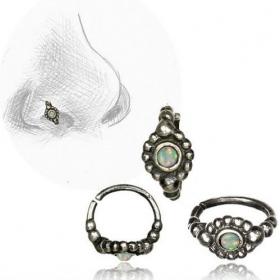 "\\\""Zeya Opal Pali\\\"" nose ring"