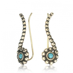 """Zilal Turquoise\"" earrings"