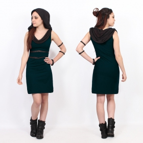 """Zoolyä\"" short dress, Dark teal"