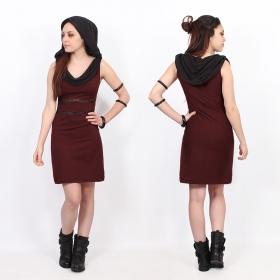 "\""Zoolyä\"" short dress, Wine"